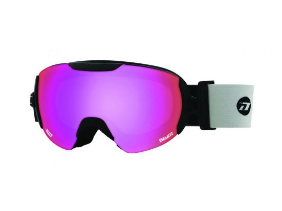 Masque de ski pour femme DEMETZ Noir Mat POW Noir Mat cat 3