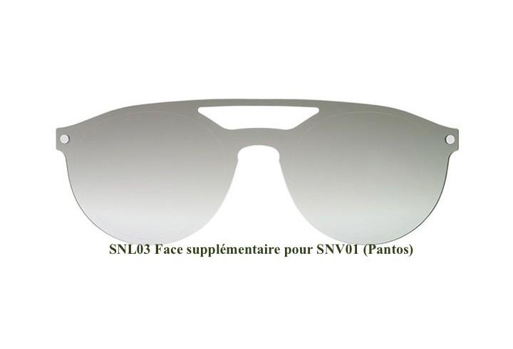 SNOB Lunettes de soleil à clip 3xGwK7a