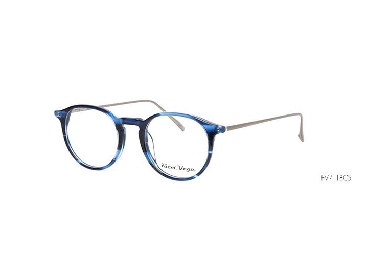 Lunettes de vue pour homme FACEL VEGA Bleu FV 7118 C5 48 21 307c0b7e31ed