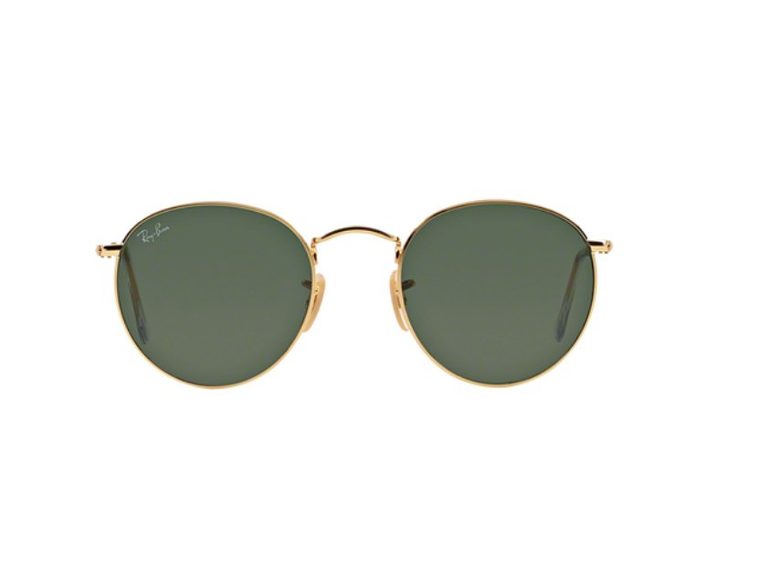 Lunettes de soleil mixte RAY BAN Or RB 3447 ROUND METAL 001 50 21 676716b28912