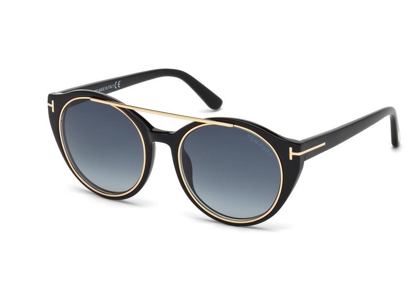 lunettes de soleil tom ford tf 0383 01w 52. Black Bedroom Furniture Sets. Home Design Ideas