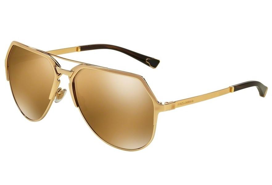 lunettes de soleil dolce gabbana dg 2151 k440f9 gold plated 18. Black Bedroom Furniture Sets. Home Design Ideas