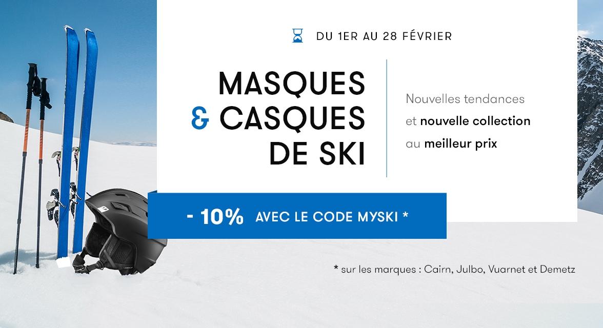 Masques et casques de ski